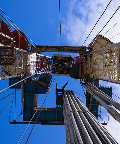 Masts and structures on drilling rig