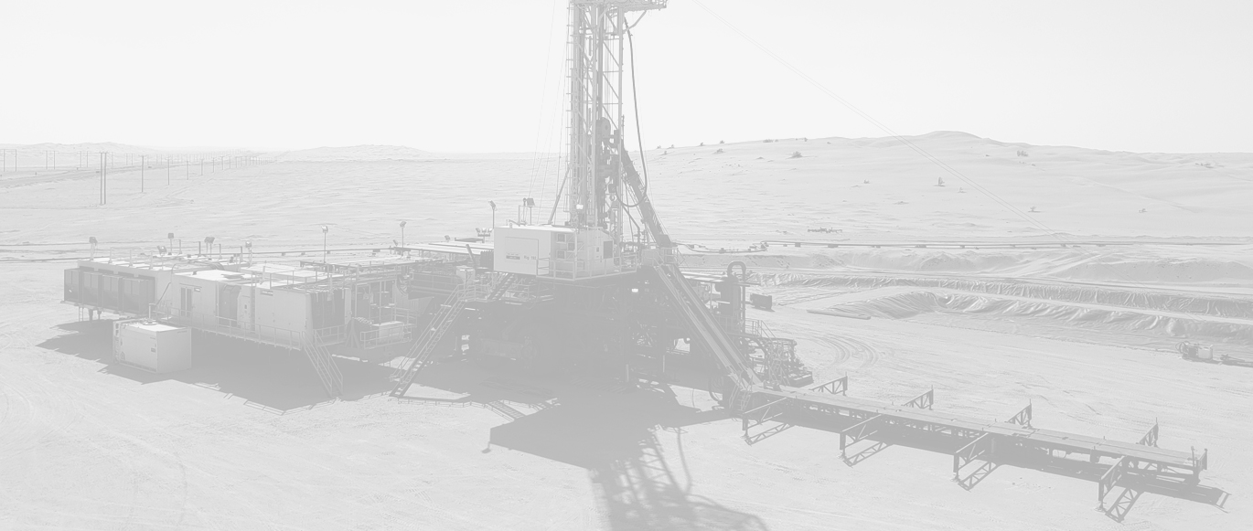 Drilling rig in desert operating with TSM drawworks and parts